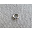 Anneau 04mm, épaisseur 0.6mm, Argenté - Lot de 10