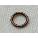 Anneau 07mm, épaisseur 0.5mm cuivre - lot de 10