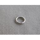 Anneau ovale 6x4mm argenté - Lot de 10