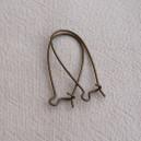 Paire de crochets 33x14 Bronze - 10x0.23€
