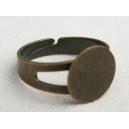 Bague Bronze réglable, plateau 12mm