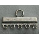 Barre 24mm 5 anneaux argentée