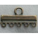 Barre 24mm 5 anneaux bronze