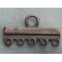 Barre 24mm 5 anneaux cuivrée