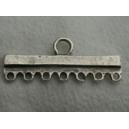 Barre 35mm 7 anneaux argentée