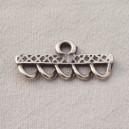 Barre 35mm argent 5 anneaux