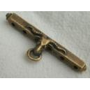 Barre bélier 45mm 6 trous bronze