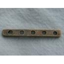 Barrette intercalaire 5 trous -28mm bronze
