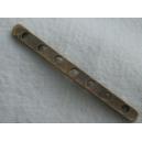 Barrette intercalaire 7 trous - 40mm bronze