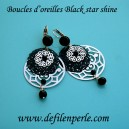 Boucles d'oreilles  Black star shine