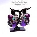 Boucles d'oreilles clips Champ de mars