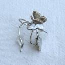Boucles d'oreilles papillons argentées