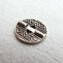 bouton 20mm métal argent