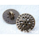 Bouton sur pied 13mm Bronze