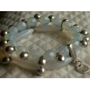 Bracelet 2 rangs breloques boules