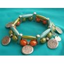 Bracelet 2 rangs monté sur élastique