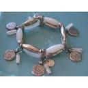 Bracelet 3 rangs Blanc opale