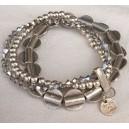 Bracelet 3 rangs métal