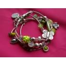 Bracelet 4 rangs pistache