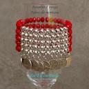 Bracelet 5 rangs Pièces de monnaie