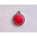 Breloque 12mm Rouge corail