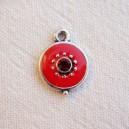 Breloque 12mm strassée Rouge 2