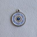 Breloque 15mm Bleu Saphir clair