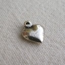 Breloque coeur 10x8 Argent
