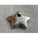 Breloque étoile 14mm argent - 20x0.45€