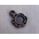 Breloque fleur cuivrée 10mm (pour recevoir 1 cabochon de 6mm)