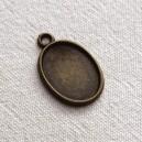 Breloque ovale 20x15  Bronze