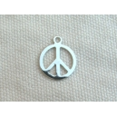 Breloque peace and love 10mm