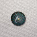 Cabochon 10mm Turquoise-Rouge