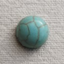 Cabochon 10mm Howlite Turquoise