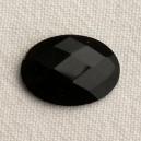 Cabochon 18x13 facetté Noir