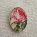 Cabochon 18x13 Rose rose