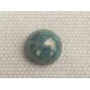 Cabochon 8mm Turquoise irisé (bleu/vert)