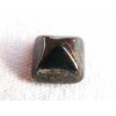 Cabochon 8x8 Noir poudré or