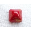 Cabochon 8x8 Rouge poudré or