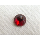 Cabochon Facetté 6mm Rouge Siam
