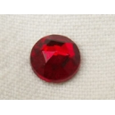 Cabochon Facetté 8mm Rouge Siam