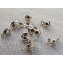 Cache-noeud 4mm argent vieilli - lot de 10