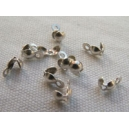 Cache-noeud 4mm argent vieilli - lot de 100