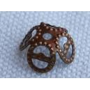 Calotte filigranée 10mm Bronze