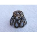 Calotte filigranée 10x7 Bronze