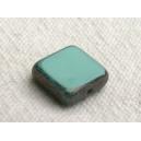 carré plat 8x8 Bleu Turquoise
