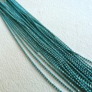 Chaine boule 1.5mm Turquoise - 50cm