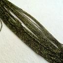 Chaine boule 1.5mm Vert anis/Noir - 50cm