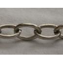 Chaine ovale 14x10 Argentée vieillie - 50cm