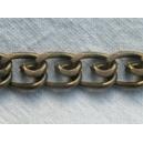 Chaine plate 12x9 Bronze - 1 mètre